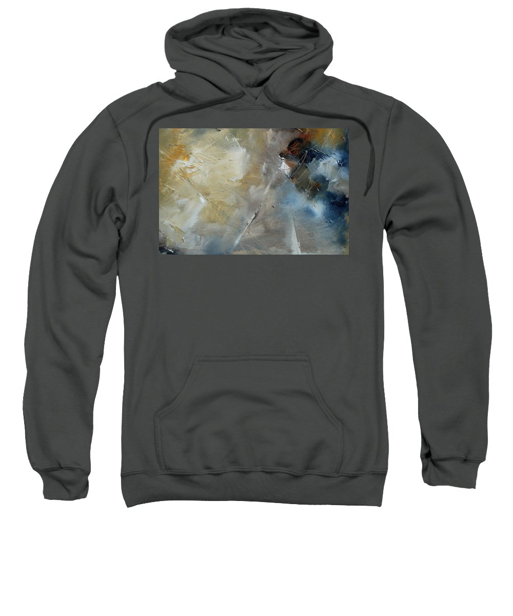 Abstract Sweatshirt featuring the painting Abstract 904060 by Pol Ledent