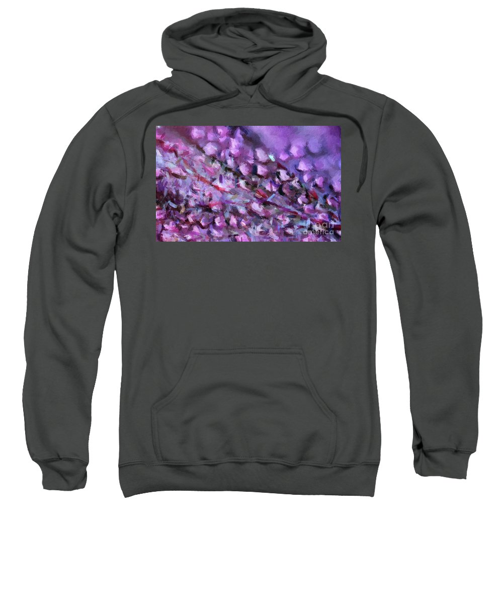 Brushstroke Sweatshirt featuring the digital art Abstract 91 Digital Oil Painting On Canvas Full Of Texture And Brig by Amy Cicconi