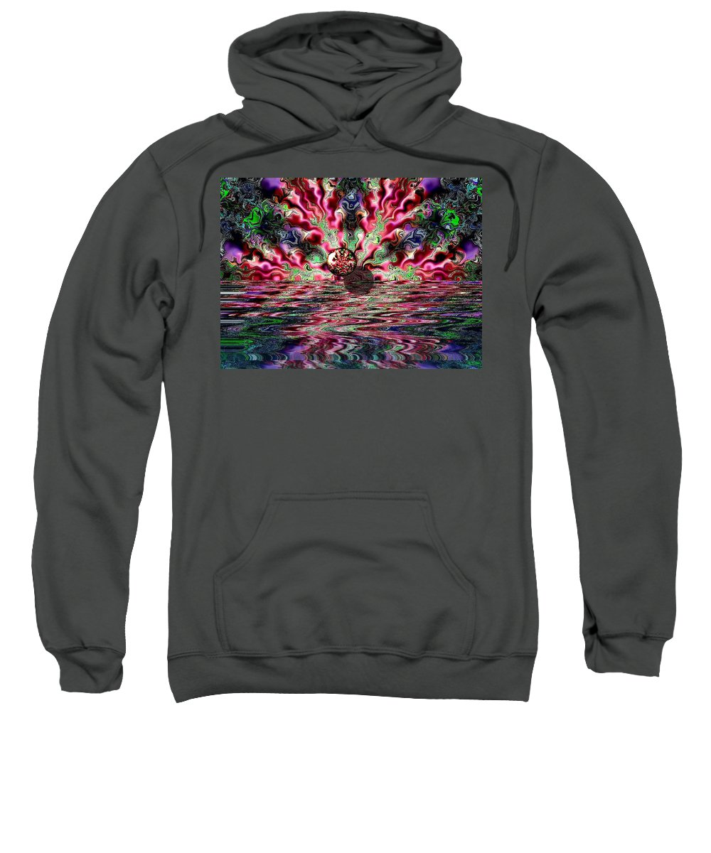 Digital Art Sweatshirt featuring the digital art Abstract 93016.1 by Belinda Cox