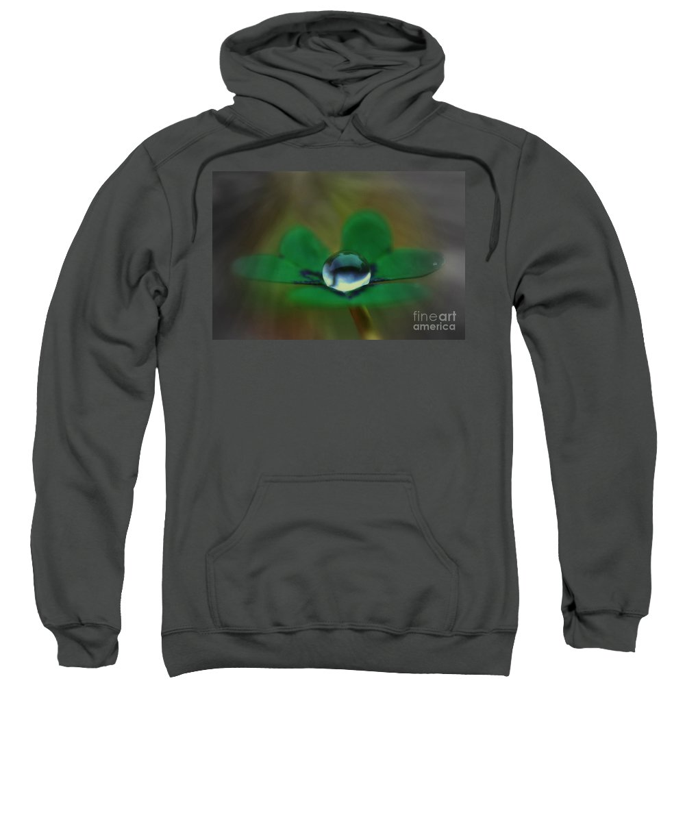 Clover Sweatshirt featuring the photograph Abstract Clover by Kym Clarke