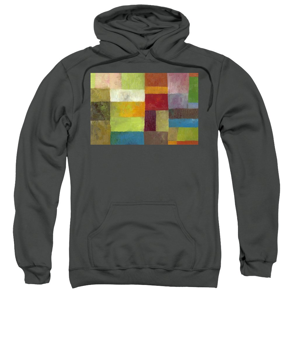 Abstract Sweatshirt featuring the painting Abstract Color Study Lv by Michelle Calkins