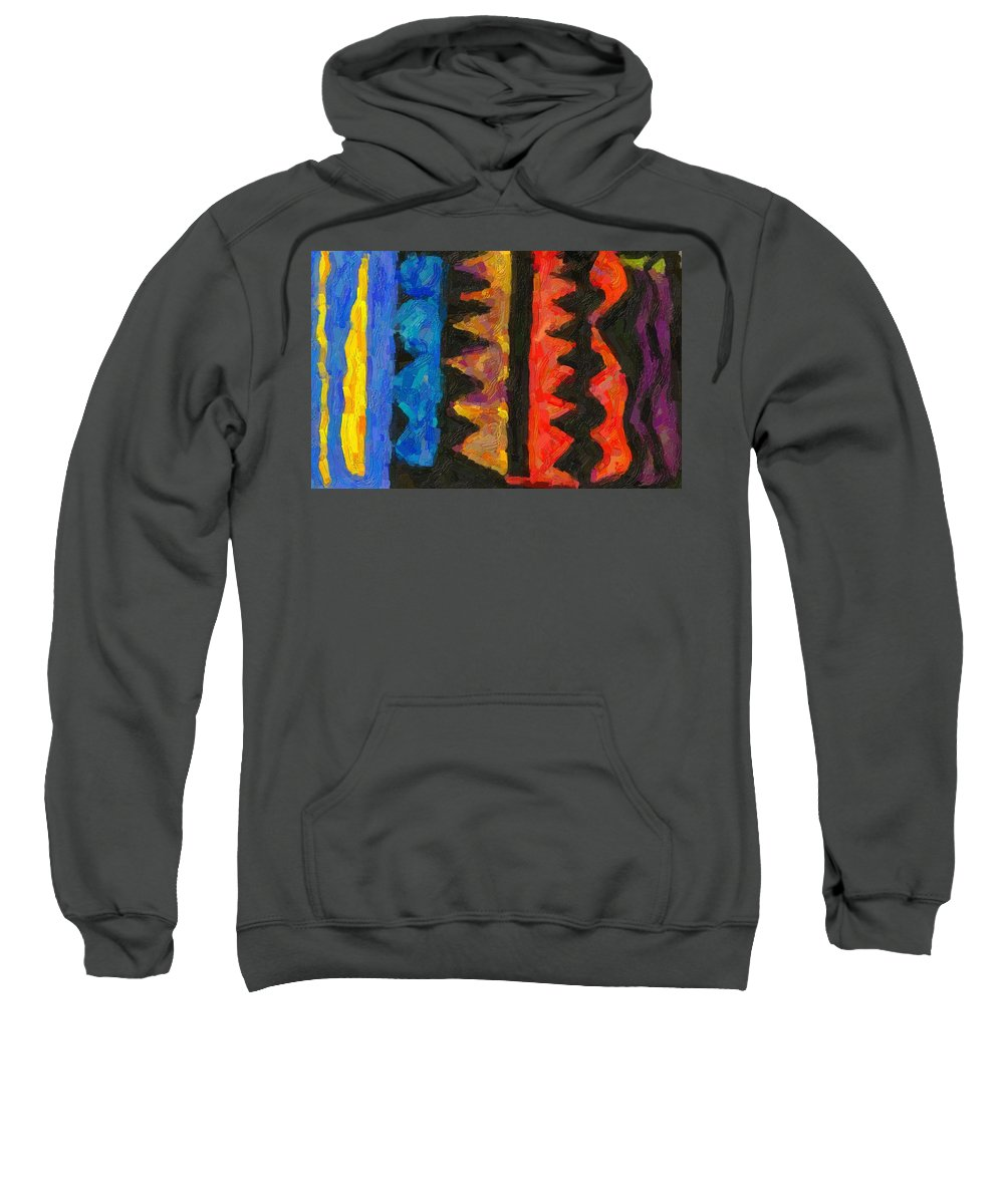 Abstract Sweatshirt featuring the painting Abstract Combination Of Colors No 5 by Celestial Images