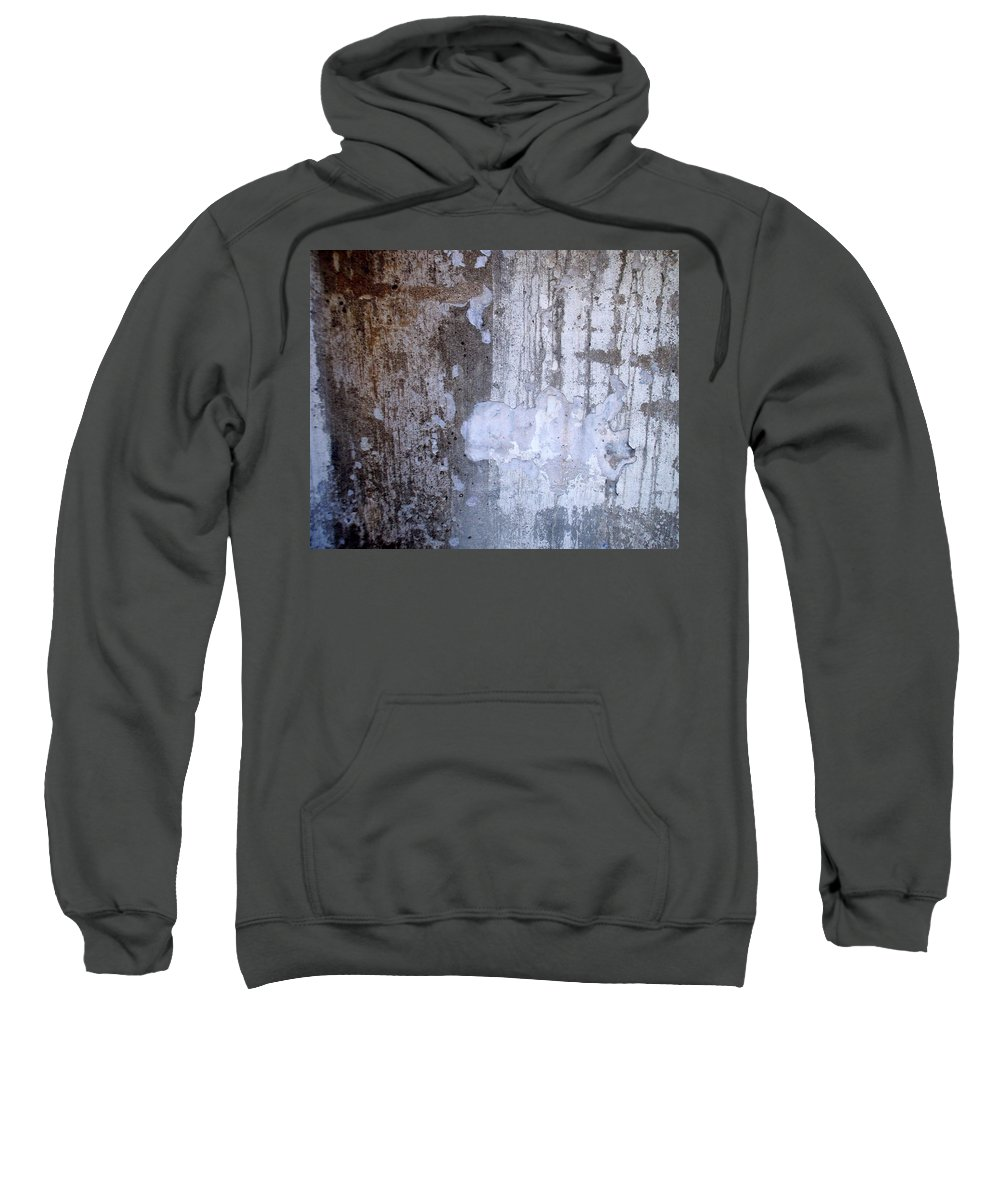 Industrial. Urban Sweatshirt featuring the photograph Abstract Concrete 8 by Anita Burgermeister