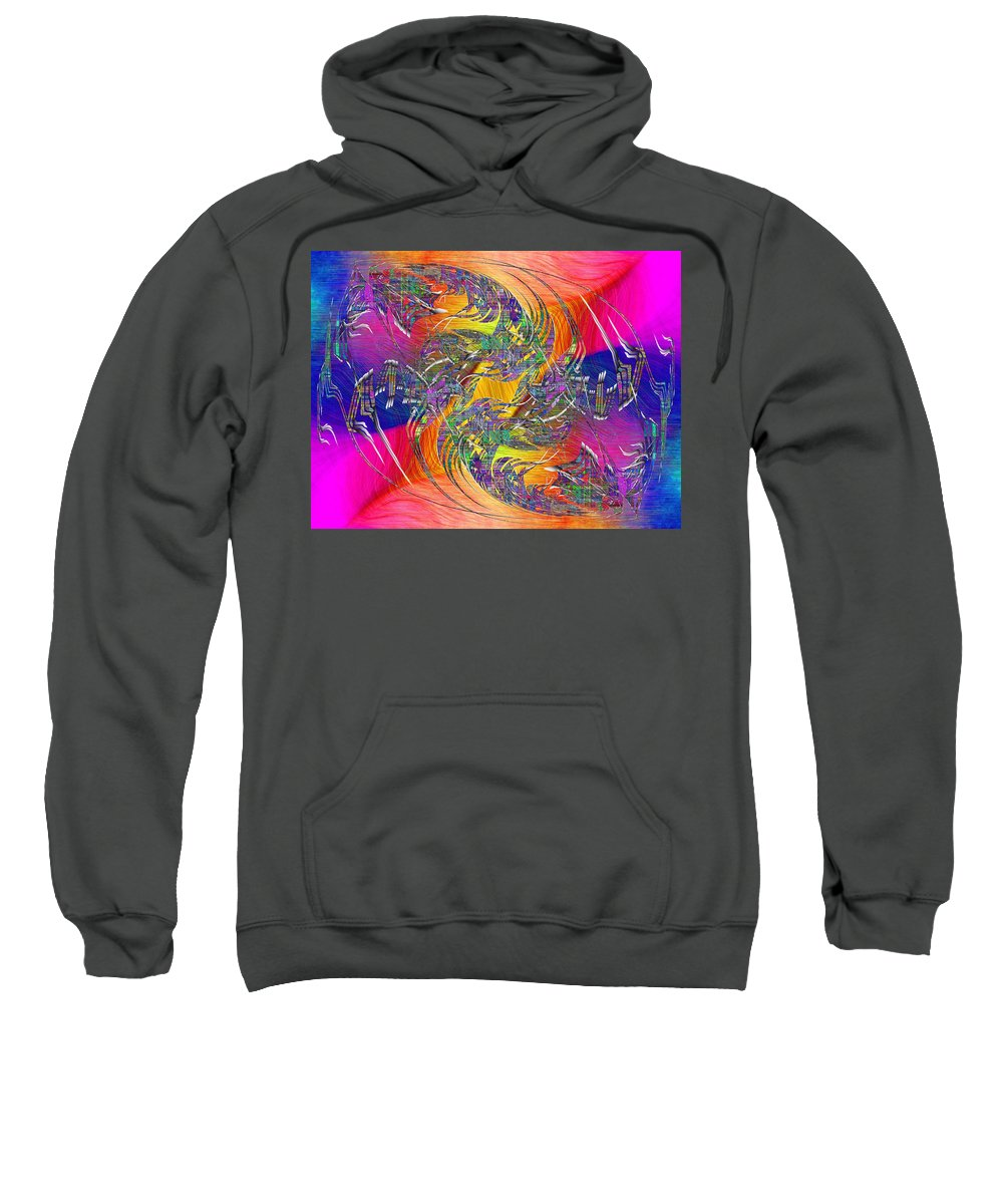 Abstract Sweatshirt featuring the digital art Abstract Cubed 314 by Tim Allen