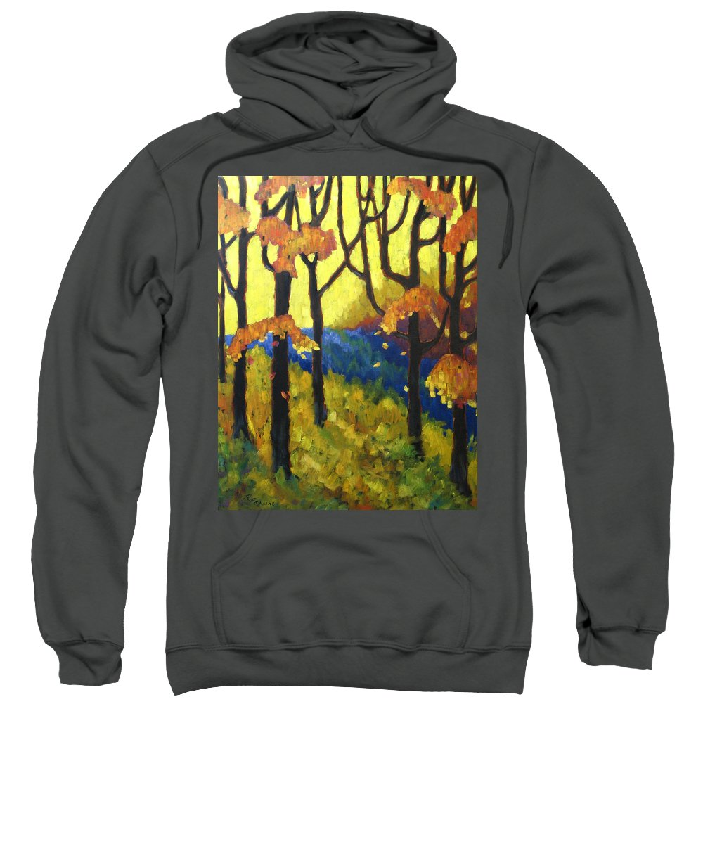 Art Sweatshirt featuring the painting Abstract Forest by Richard T Pranke
