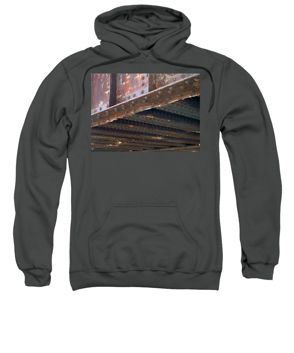 Urban Sweatshirt featuring the photograph Abstract Rust 4 by Anita Burgermeister