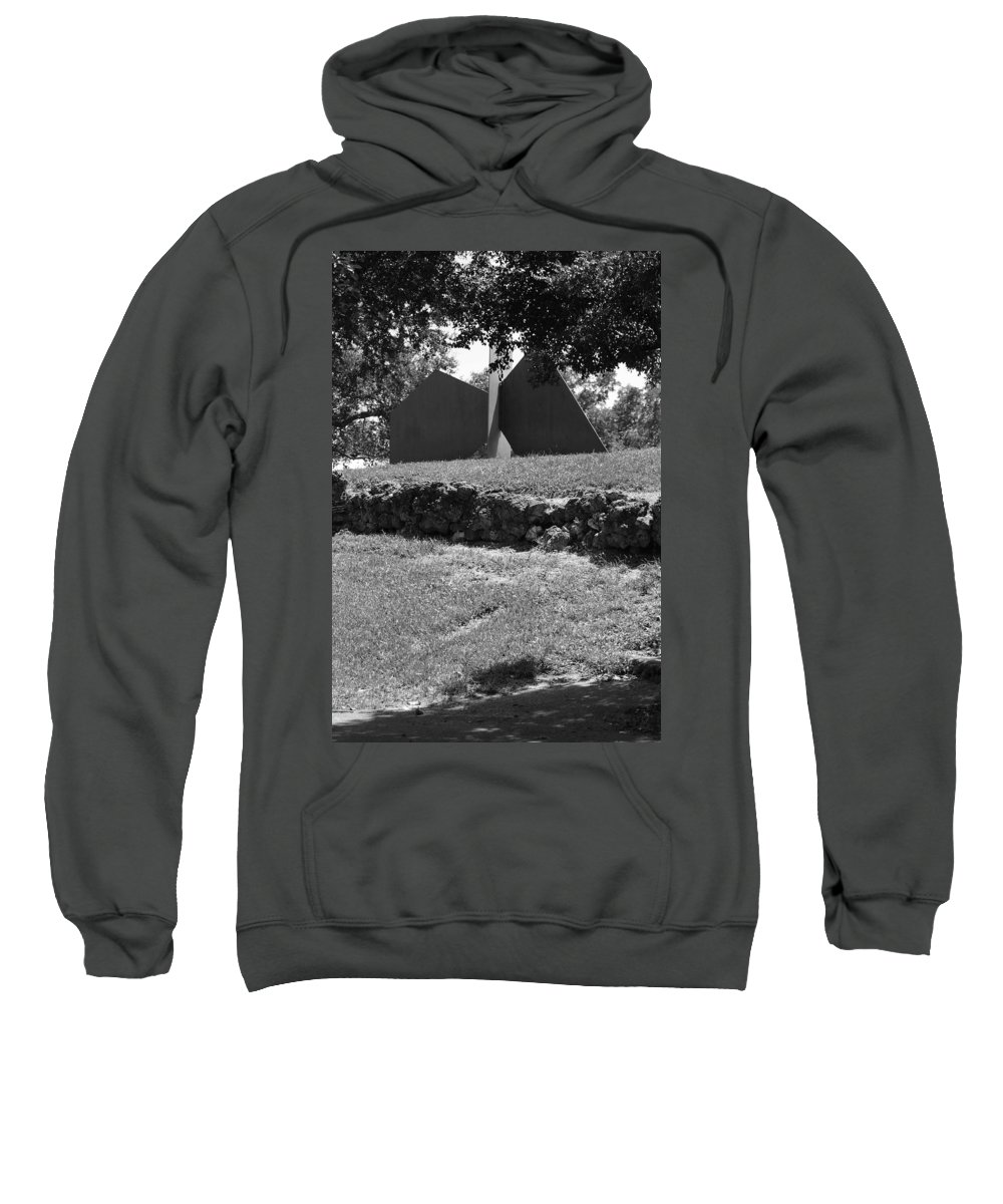 Black And White Sweatshirt featuring the photograph Abstract Sculpture by Rob Hans