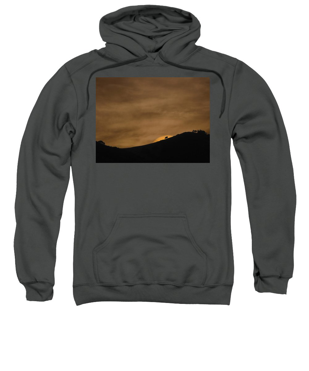 Landscapes Sweatshirt featuring the photograph Abstract Sunset At Del Valle by Karen W Meyer