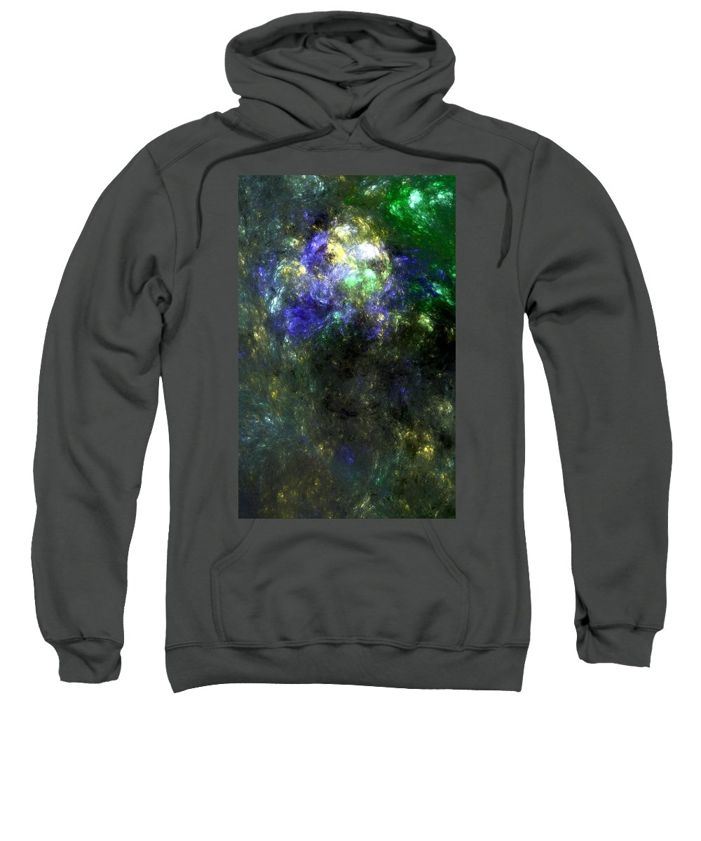 Abstract Expressionism Sweatshirt featuring the digital art Abstract08-14-09 by David Lane
