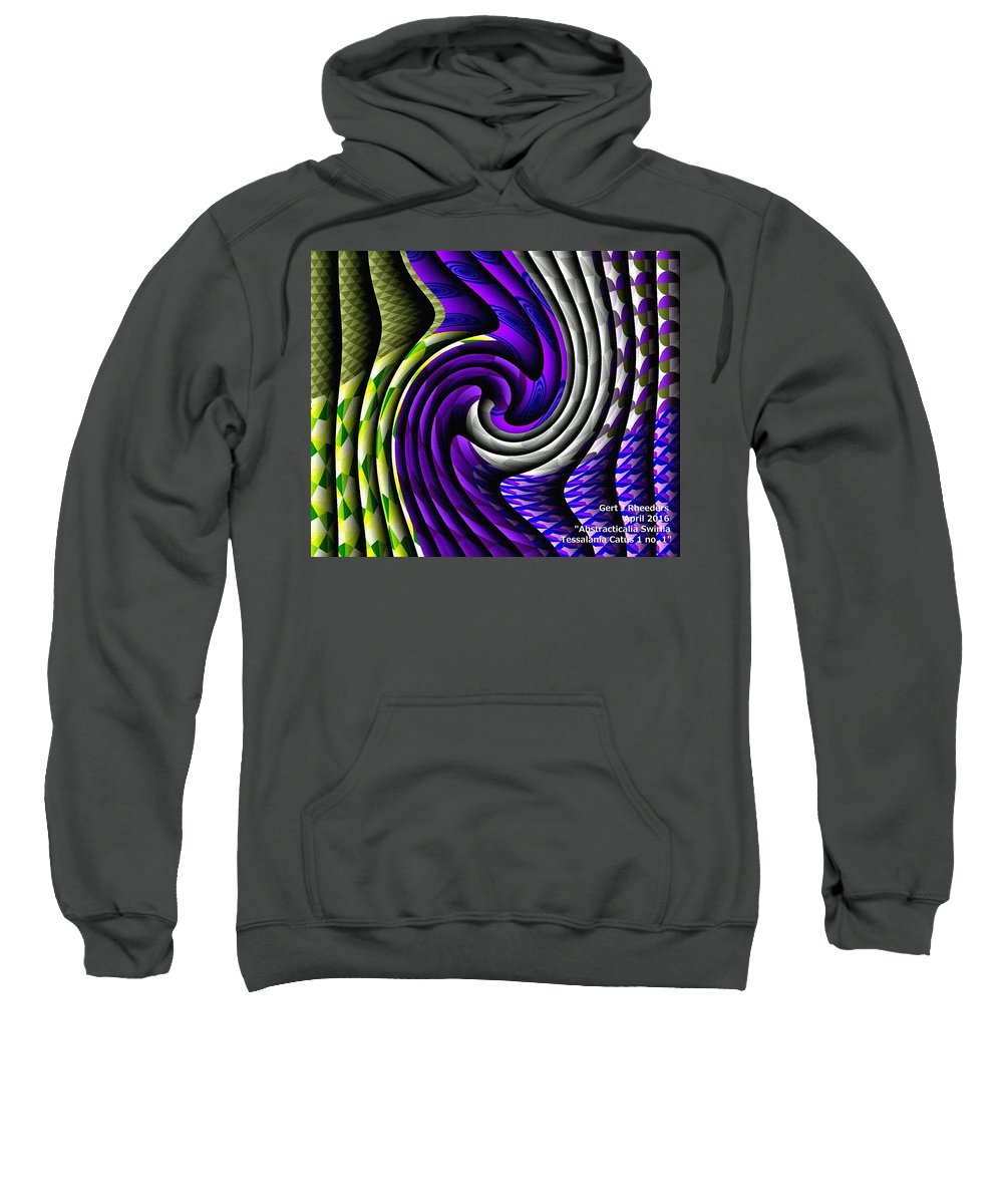 Modern Art Sweatshirt featuring the painting Abstracticalia Swirlia Tessalania Catus 1 No. 1 by Gert J Rheeders