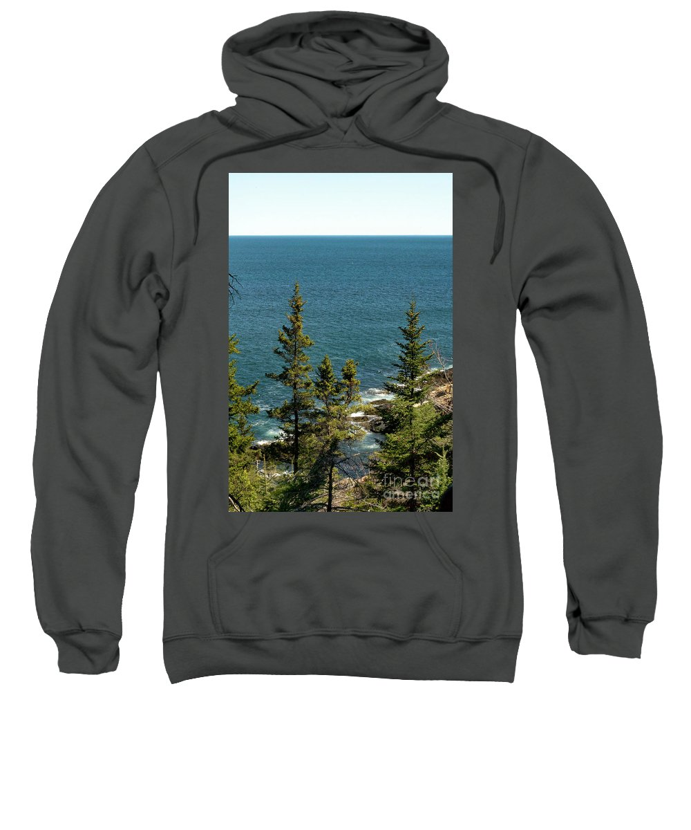 Maritime Sweatshirt featuring the photograph Acadia's Atlantic by Skip Willits
