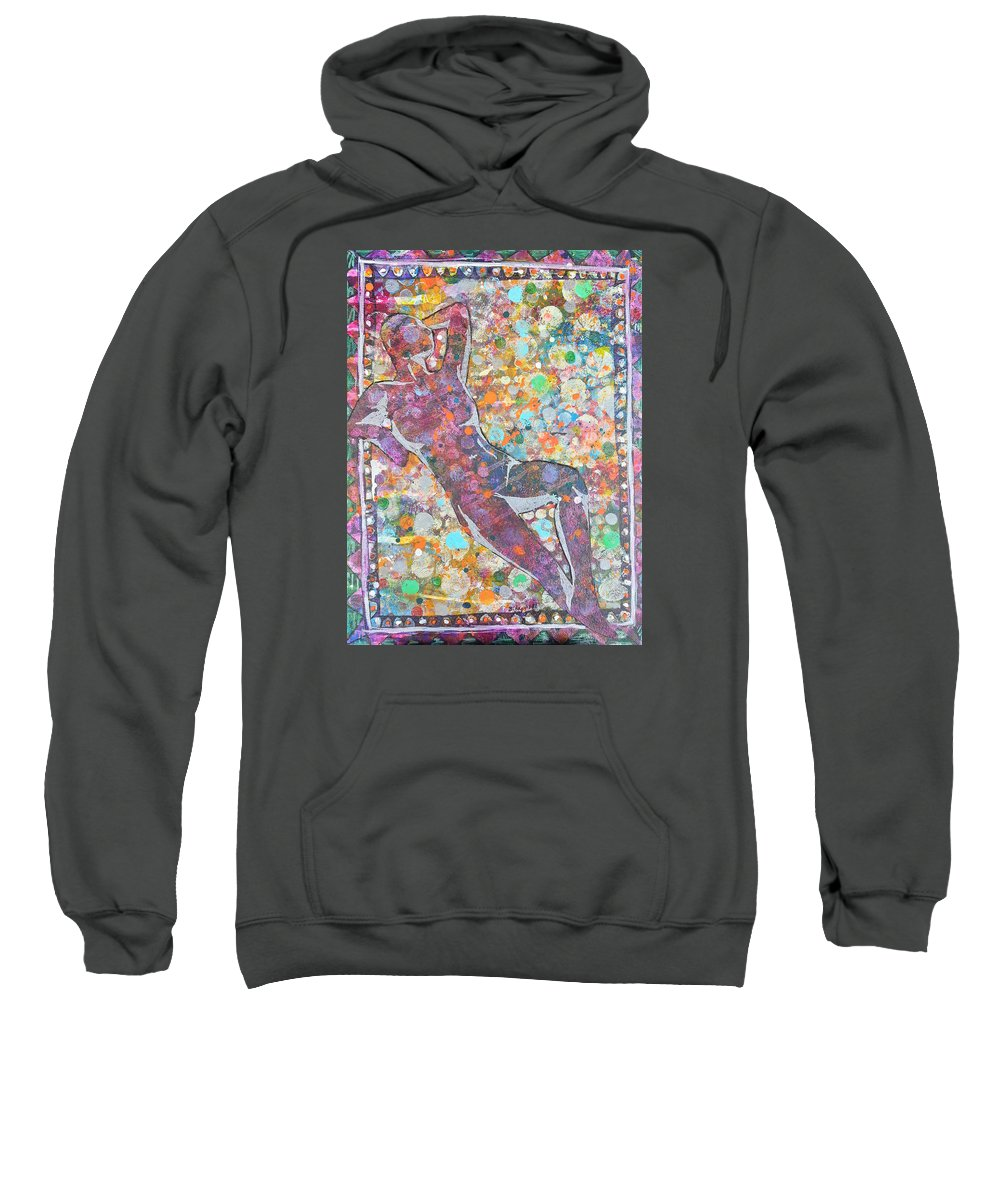 Abstract Sweatshirt featuring the painting Acceptance by Becky Chappell
