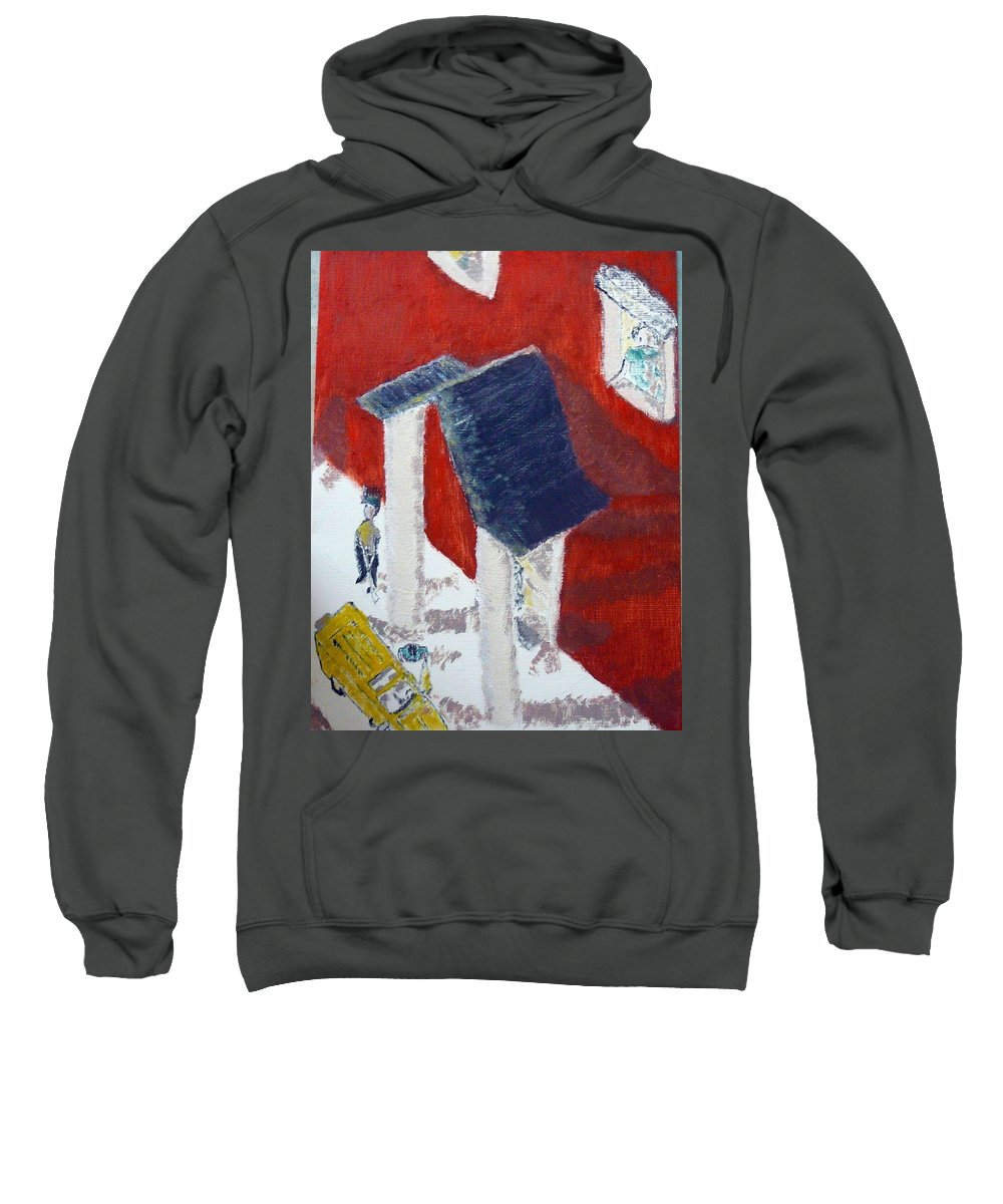 Social Realiism Sweatshirt featuring the painting Accessories by R B
