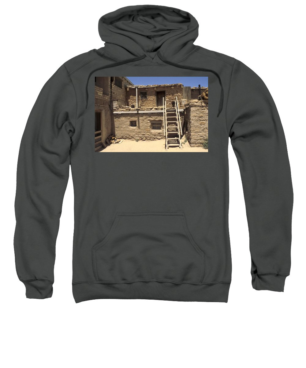 Acoma Sweatshirt featuring the photograph Acoma Pueblo by Jerry McElroy