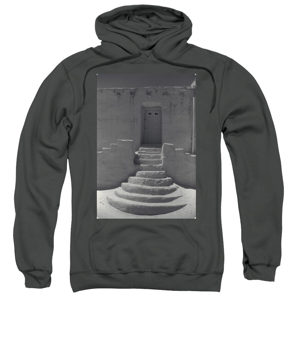 Acoma Sweatshirt featuring the photograph Acoma Steps by Jerry McElroy