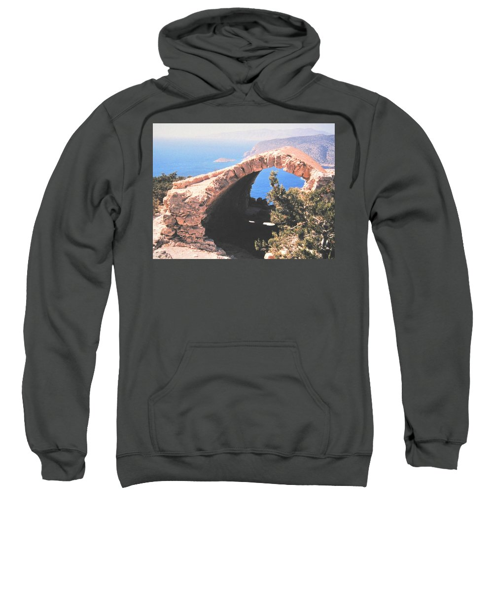 Greece Sweatshirt featuring the photograph Across To Turkey by Ian MacDonald