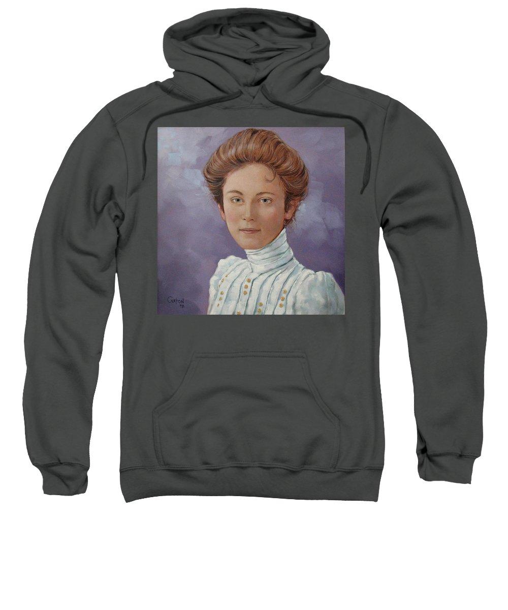 Posthumous Portrait Sweatshirt featuring the painting Ada Douglas by Jerrold Carton