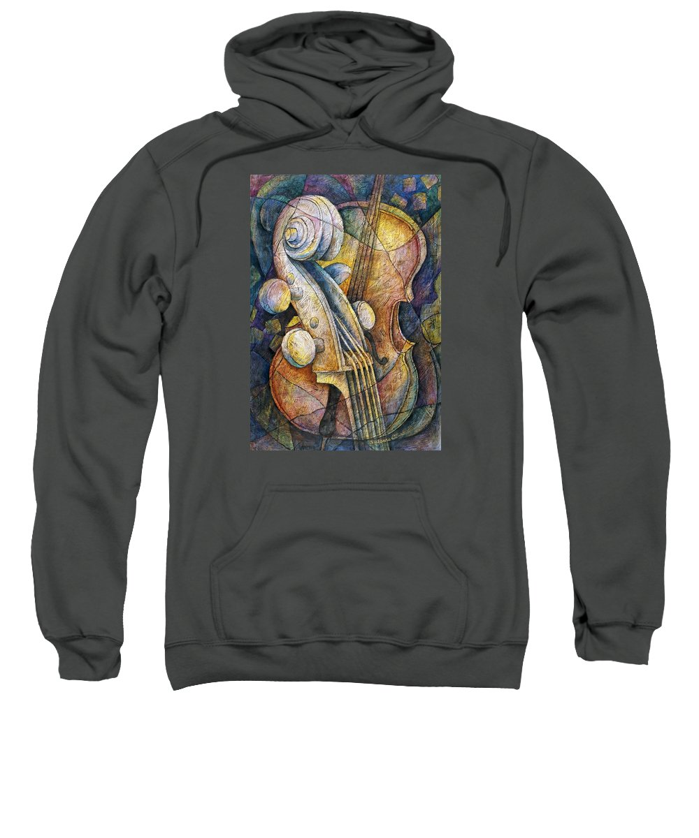 Susanne Clark Sweatshirt featuring the painting Adam's Cello by Susanne Clark