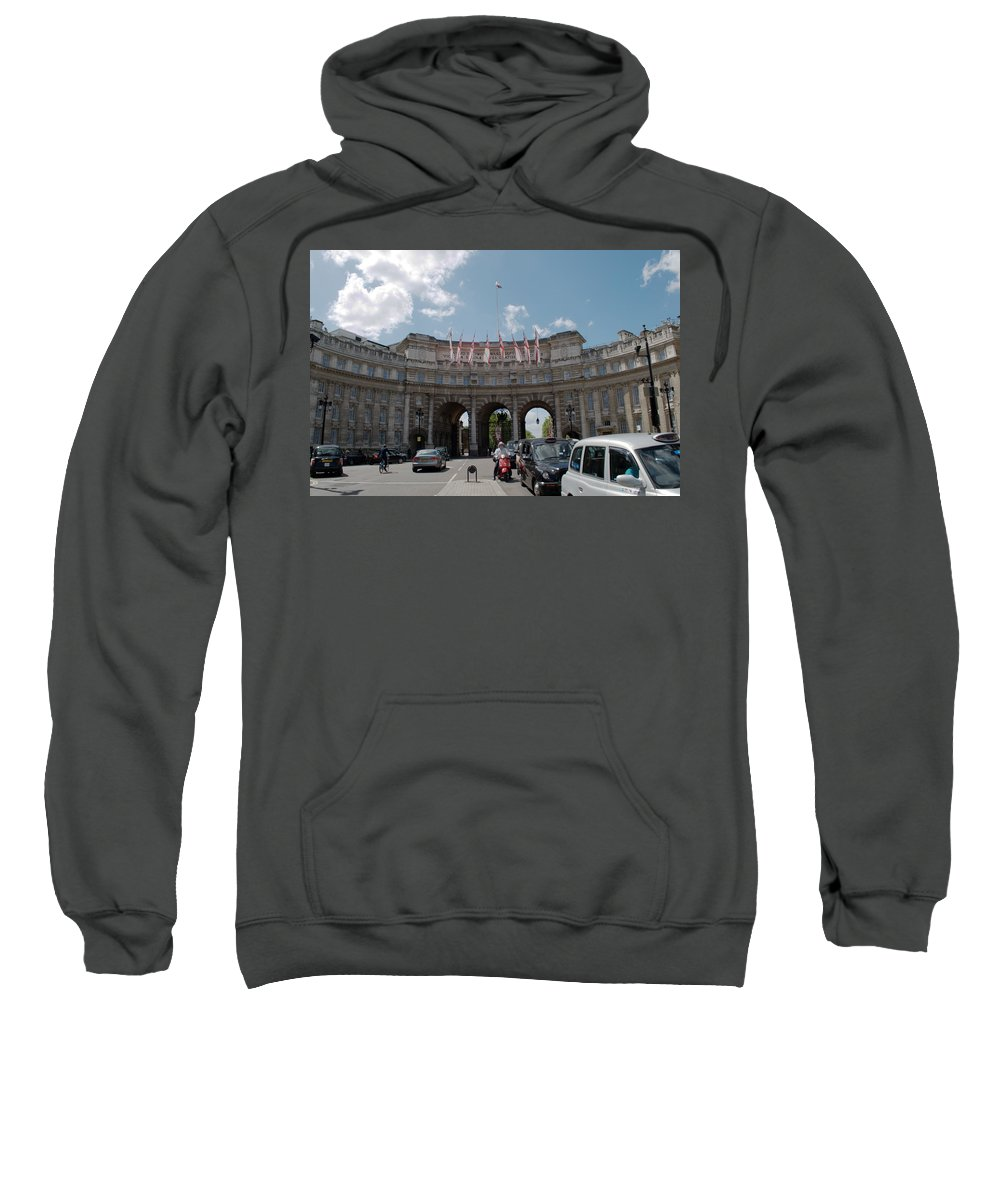 Admiralty Arch Sweatshirt featuring the photograph Admiralty Arch by Chris Day