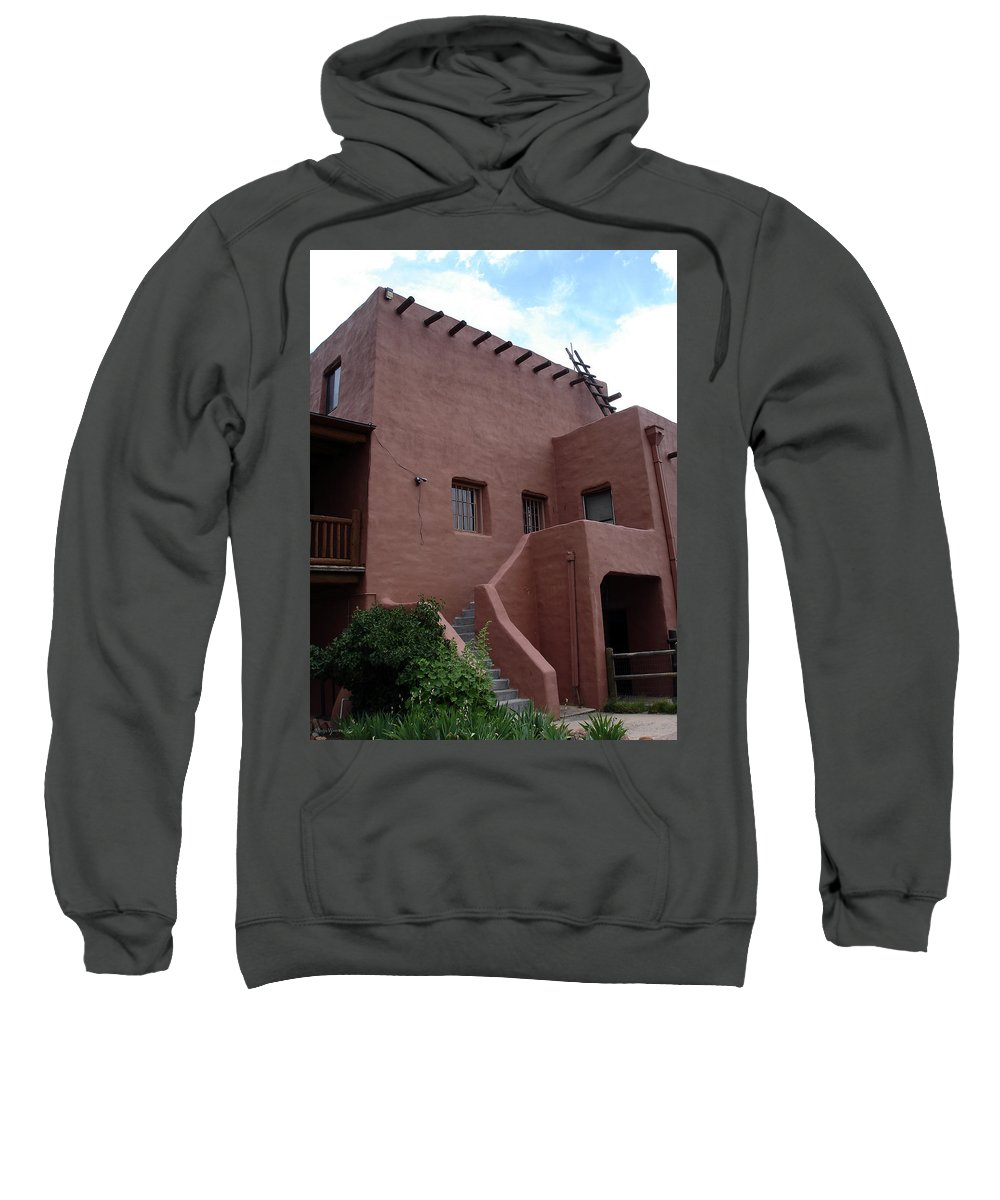 Santa Fe Sweatshirt featuring the photograph Adobe House At Red Rocks Colorado by Merja Waters