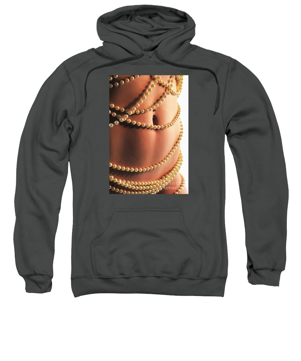 Artistic Sweatshirt featuring the photograph Adorned With Pearls by Robert WK Clark