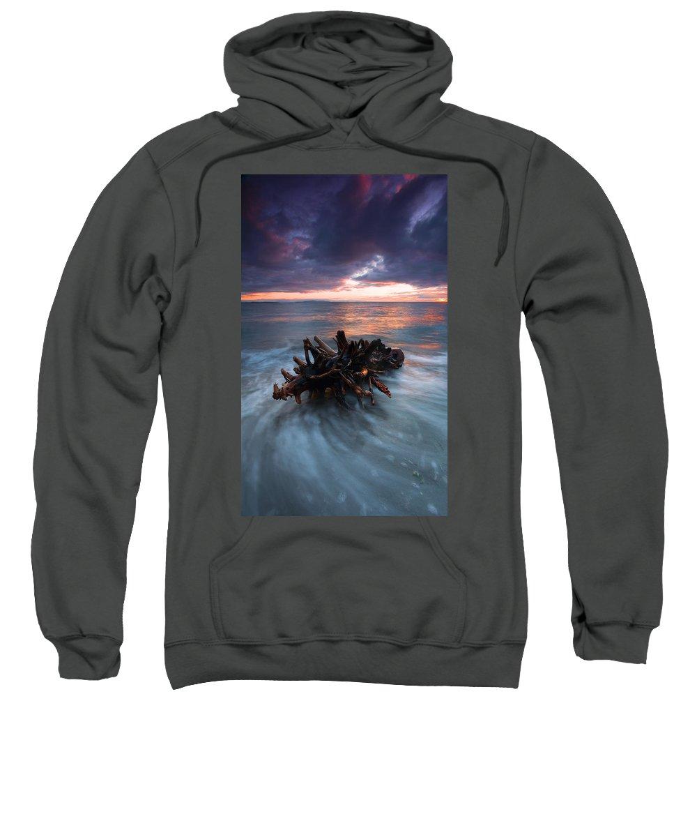 Stump Sweatshirt featuring the photograph Adrift by Mike Dawson