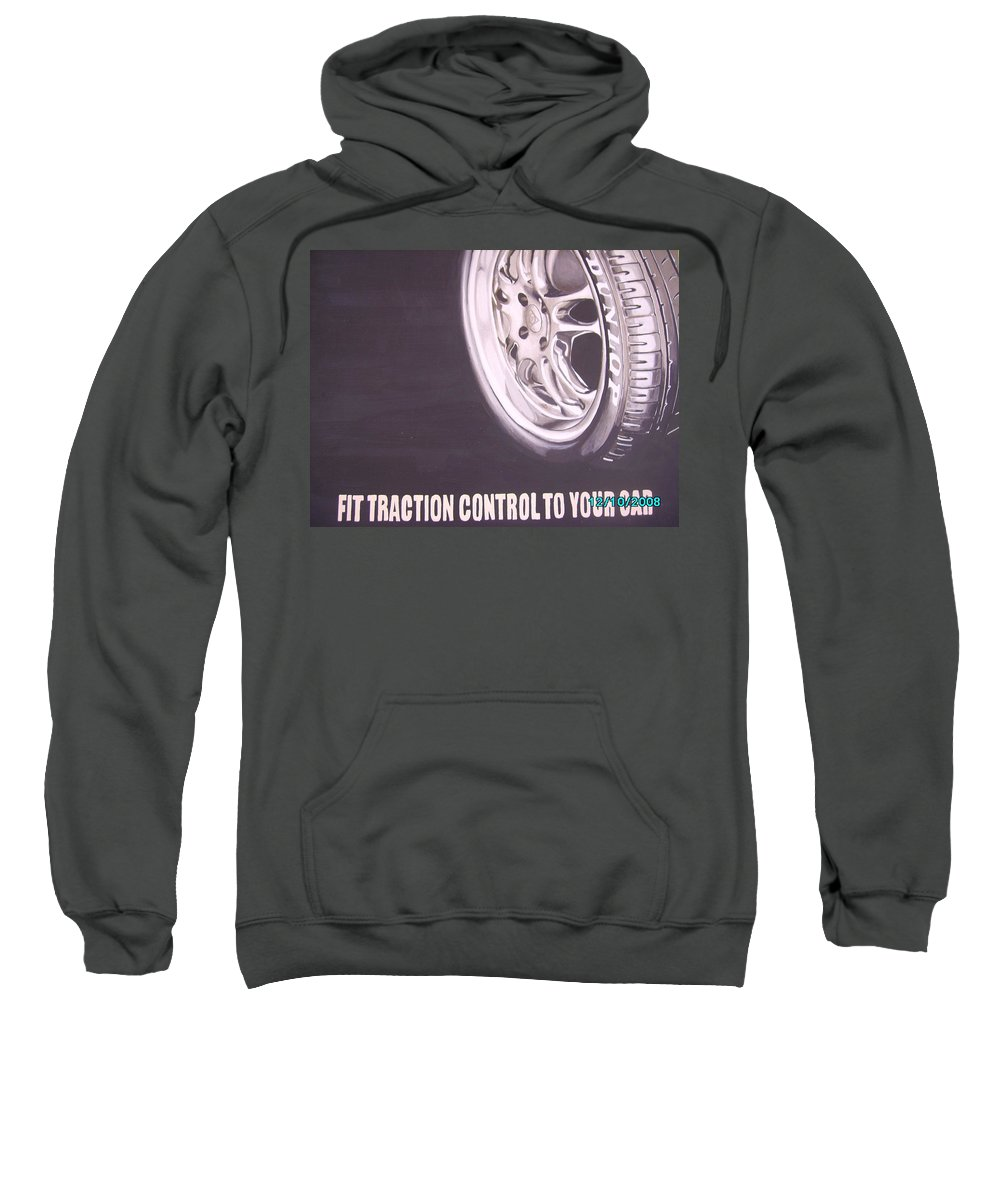 Wheel Sweatshirt featuring the digital art Adverts On Tyres by Olaoluwa Smith