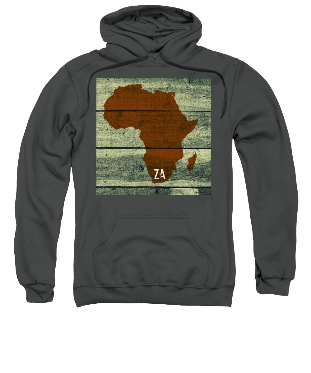 Africa Sweatshirt featuring the digital art Africa Za by Malcolm Dewey