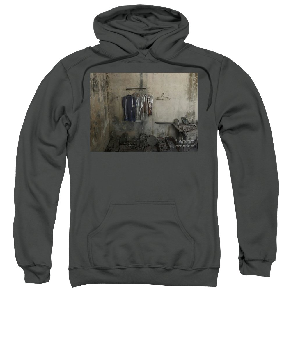 Room Eruption Volcano Traditional Music Gamelan Java Indonesia Sweatshirt featuring the photograph After A Volcanic Eruption by Aris Sukoco