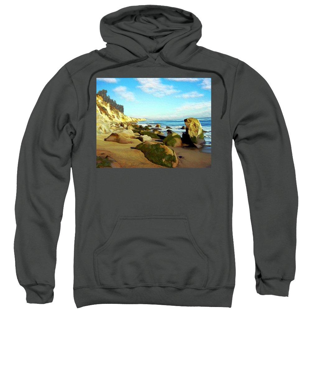 Ocean Sweatshirt featuring the photograph After The Fog Gaviota by Kurt Van Wagner