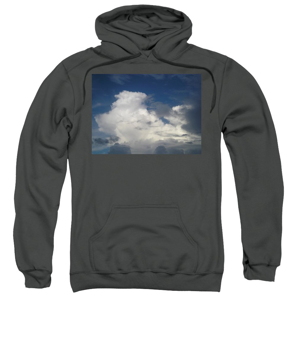 Clouds Sweatshirt featuring the photograph After The Rain by Maria Bonnier-Perez