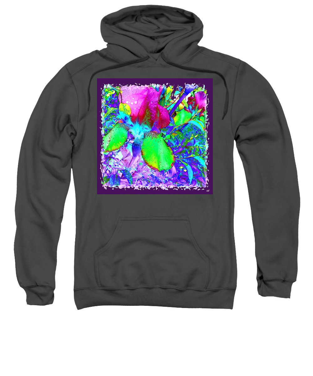 Dramatic Sweatshirt featuring the digital art After The Rain by Will Borden