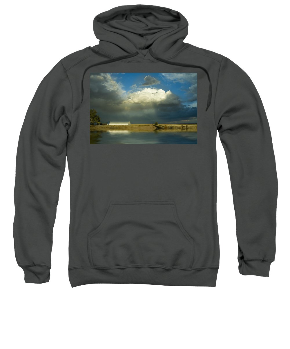 Storm Sweatshirt featuring the photograph After The Storm by Jerry McElroy