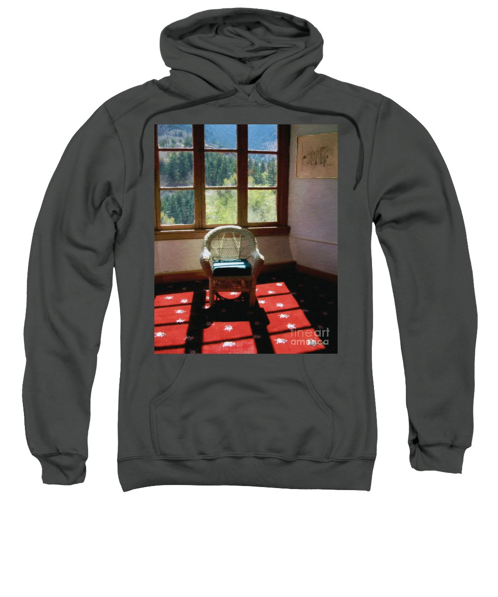 Antiques Sweatshirt featuring the painting Afternoon In The Solarium by RC DeWinter