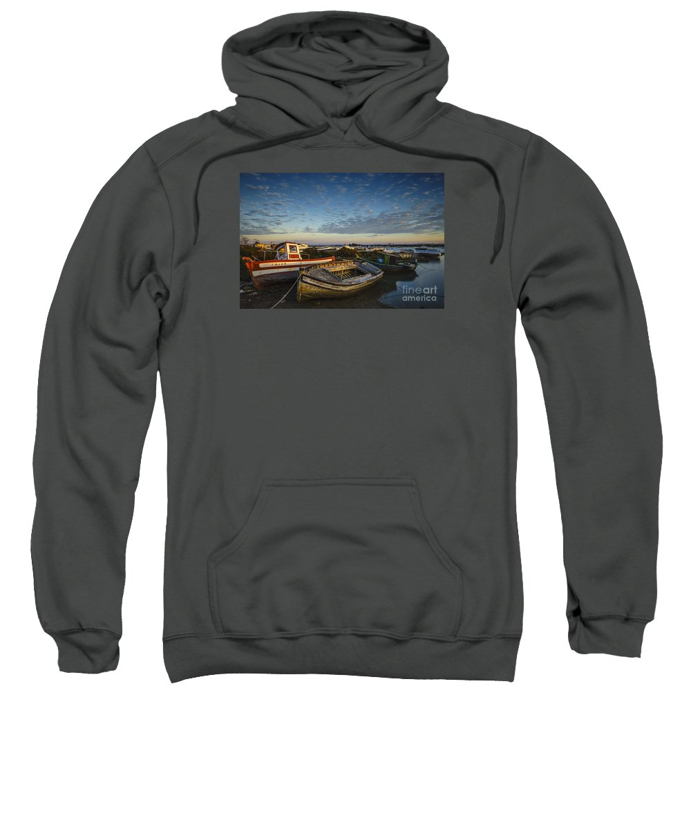 Andalucia Sweatshirt featuring the photograph Aging Boats On Trocadero Pipe Puerto Real Cadiz Spain by Pablo Avanzini