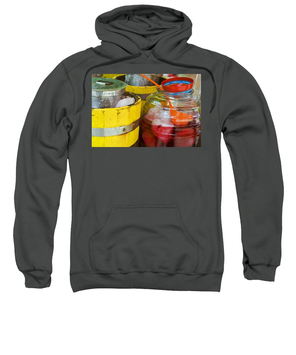 Beverage Sweatshirt featuring the photograph Agua De Hamaica by Skip Hunt
