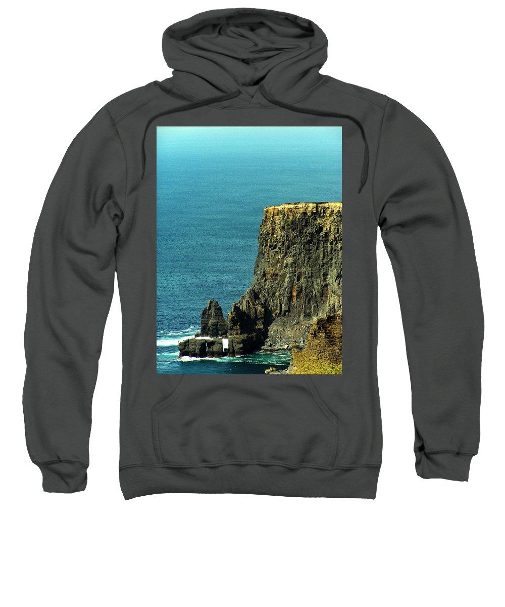 Irish Sweatshirt featuring the photograph Aill Na Searrach Cliffs Of Moher Ireland by Teresa Mucha