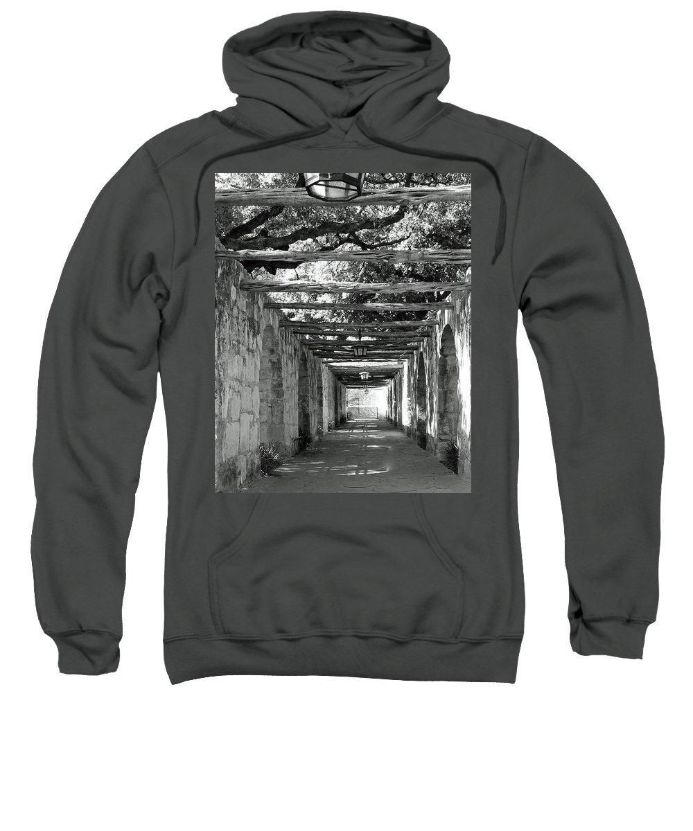 Alamo Corridor Sweatshirt featuring the photograph Alamo Corridor by Debbie Karnes