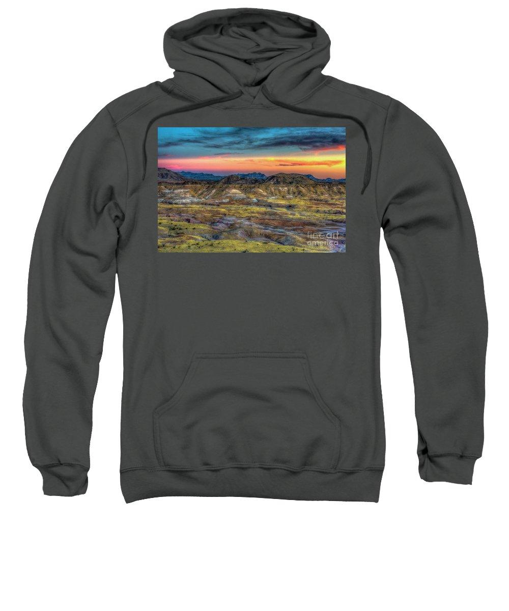 Adventure Sweatshirt featuring the photograph Alamo Creek Sunset by Charles Dobbs