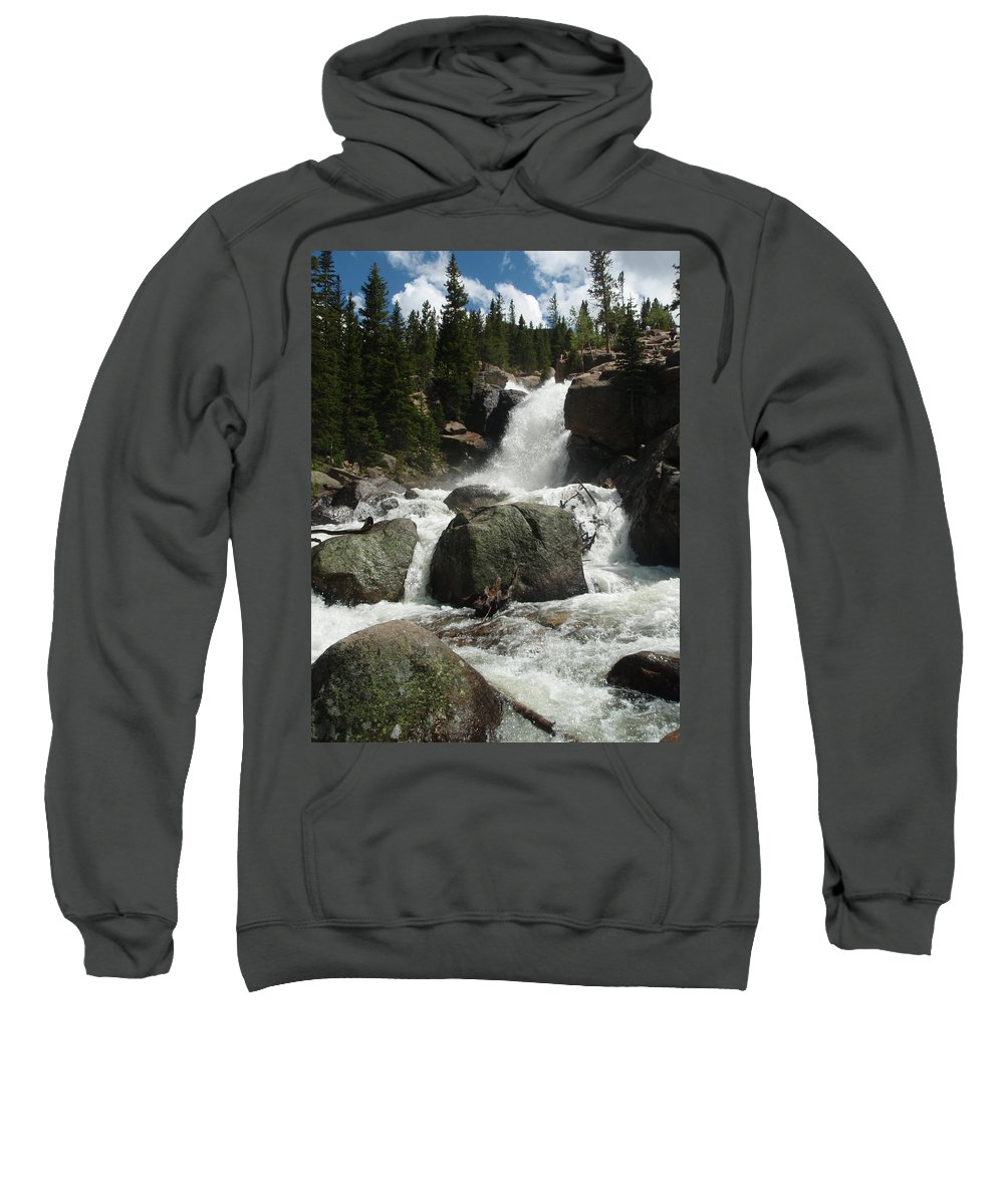 Landscape Sweatshirt featuring the photograph Alberta Falls Rmnp by Dennis Boyd
