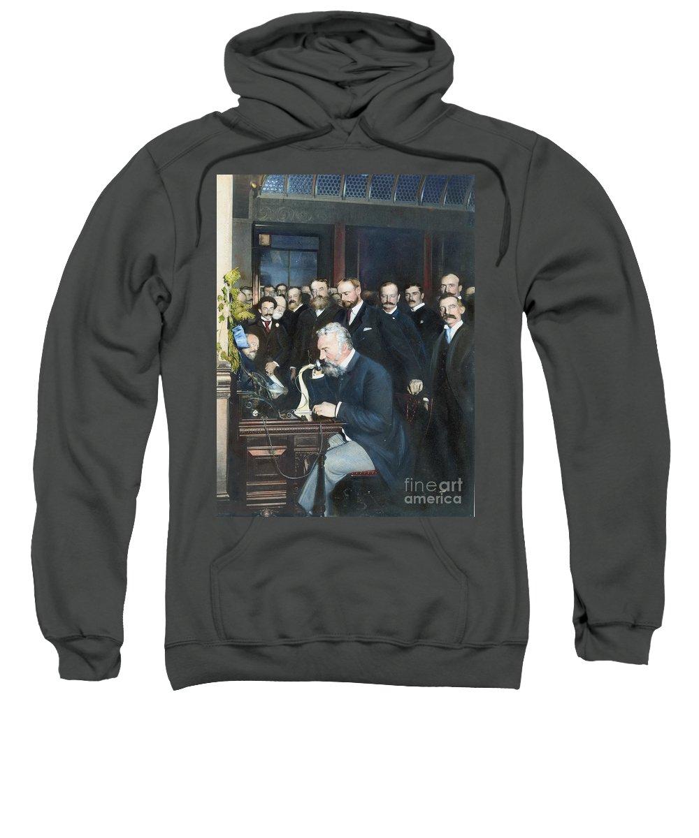 1892 Sweatshirt featuring the photograph Alexander Graham Bell by Granger