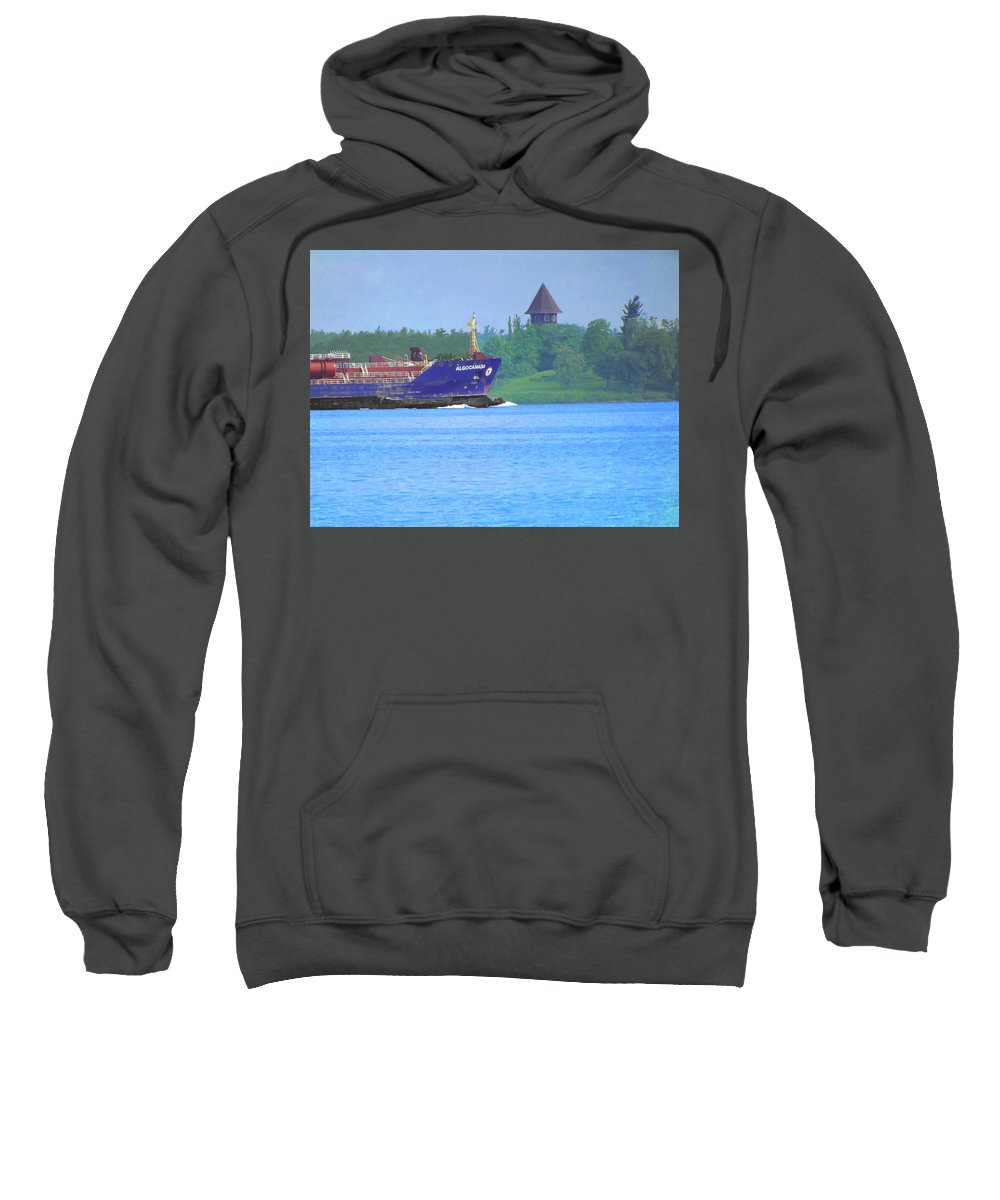 Salty Sweatshirt featuring the photograph Algocanada by Joseph F Safin