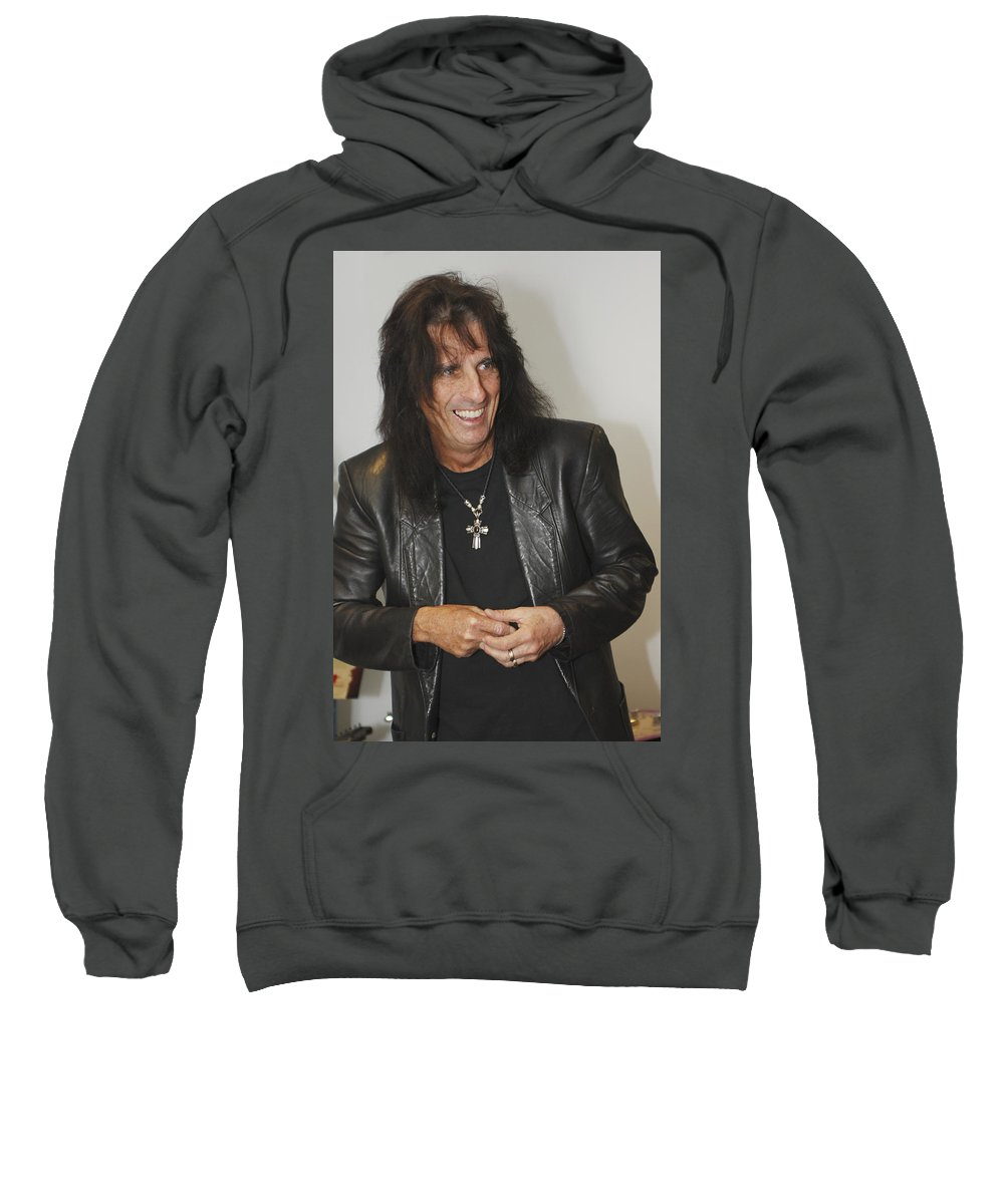 Alice Cooper Sweatshirt featuring the photograph Alice Cooper Happy by Jill Reger