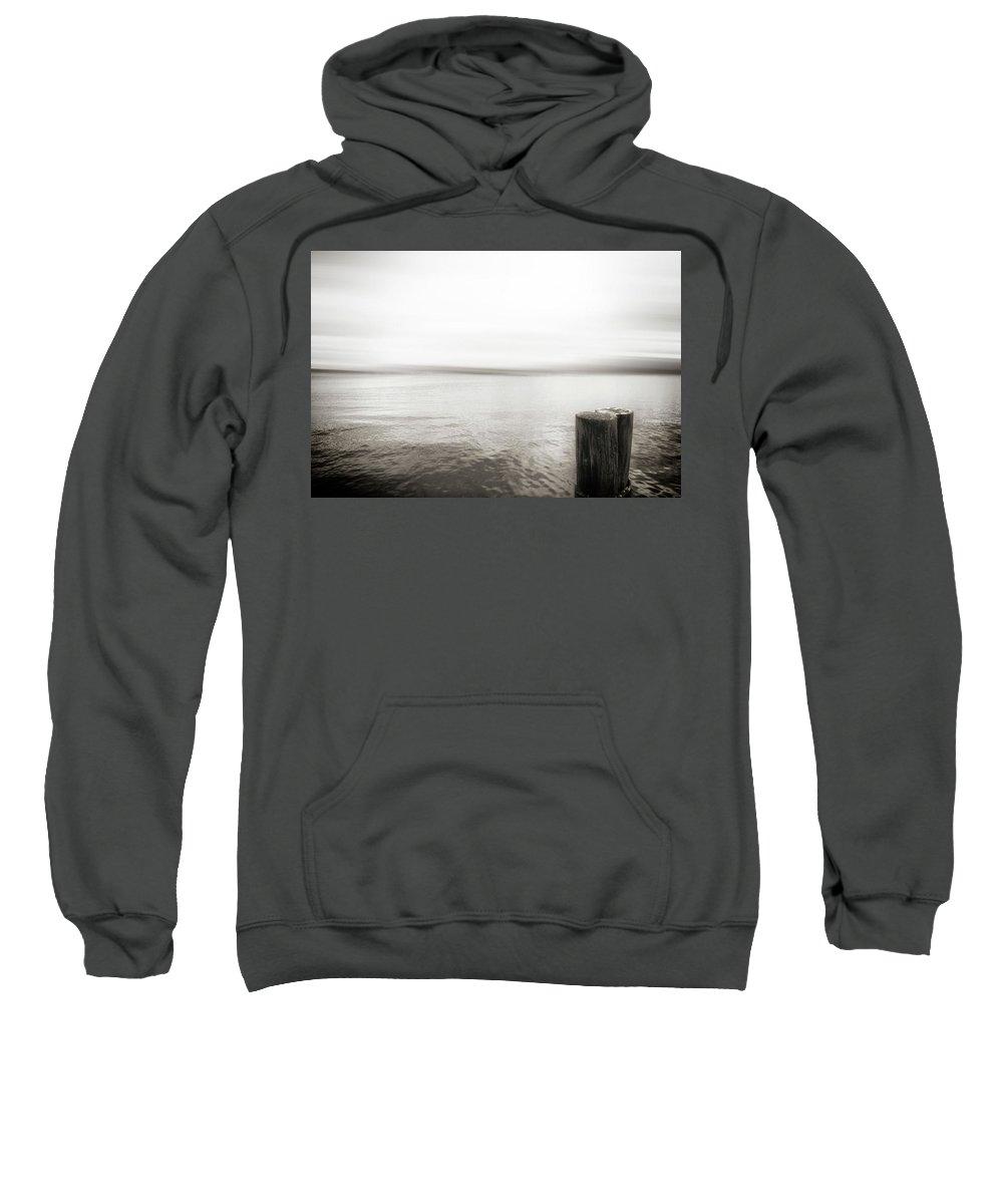 Usa Sweatshirt featuring the photograph Alki Piling by Savanah Plank