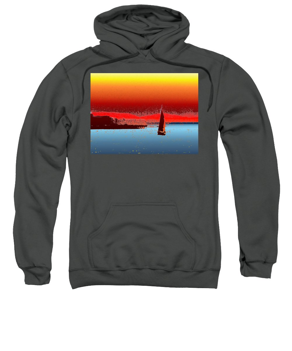 Seattle Sweatshirt featuring the photograph Alki Sail 3 by Tim Allen