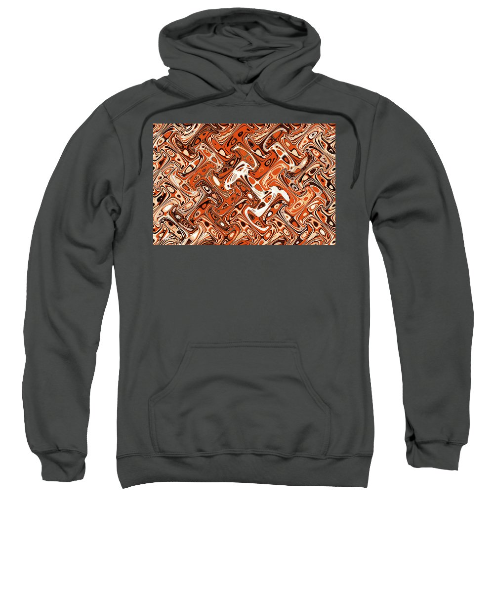 All Art Abstract #3 Sweatshirt featuring the digital art All Art Abstract #3 by Tom Janca