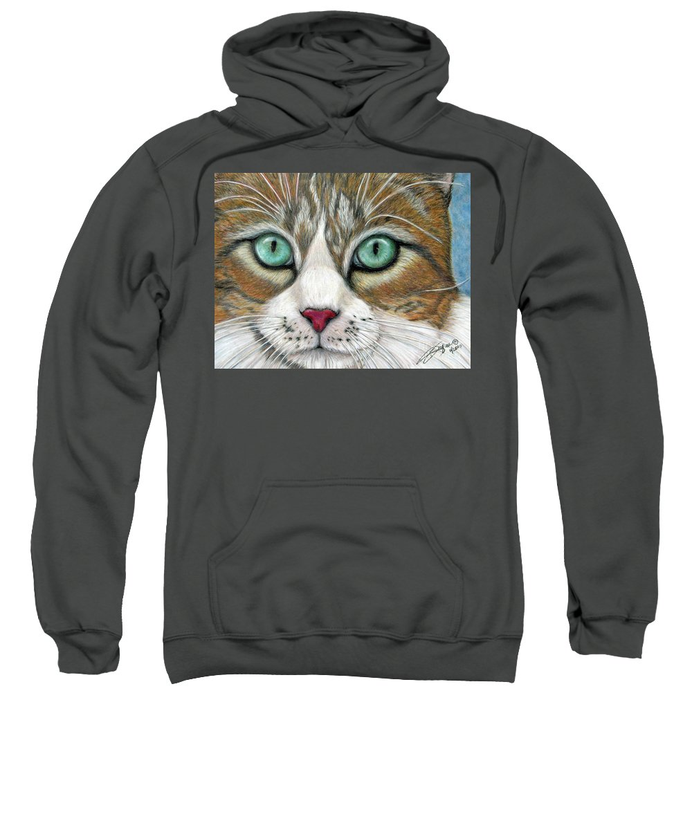 Pet Portraits Sweatshirt featuring the drawing All I Want For Christmas Is A Home by Beverly Fuqua