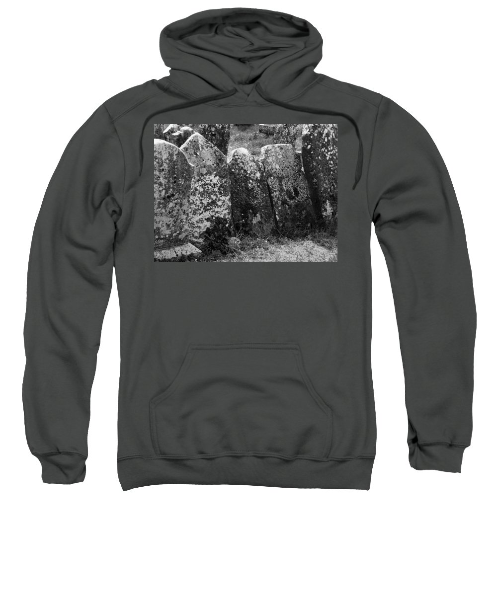 Ireland Sweatshirt featuring the photograph All In A Row At Fuerty Cemetery Roscommon Ireland by Teresa Mucha