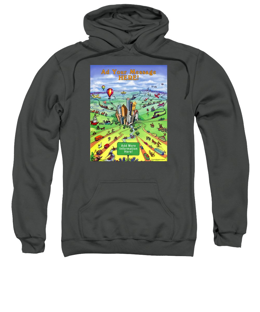 Houston Sweatshirt featuring the digital art All Roads Lead To Houston by Kevin Middleton