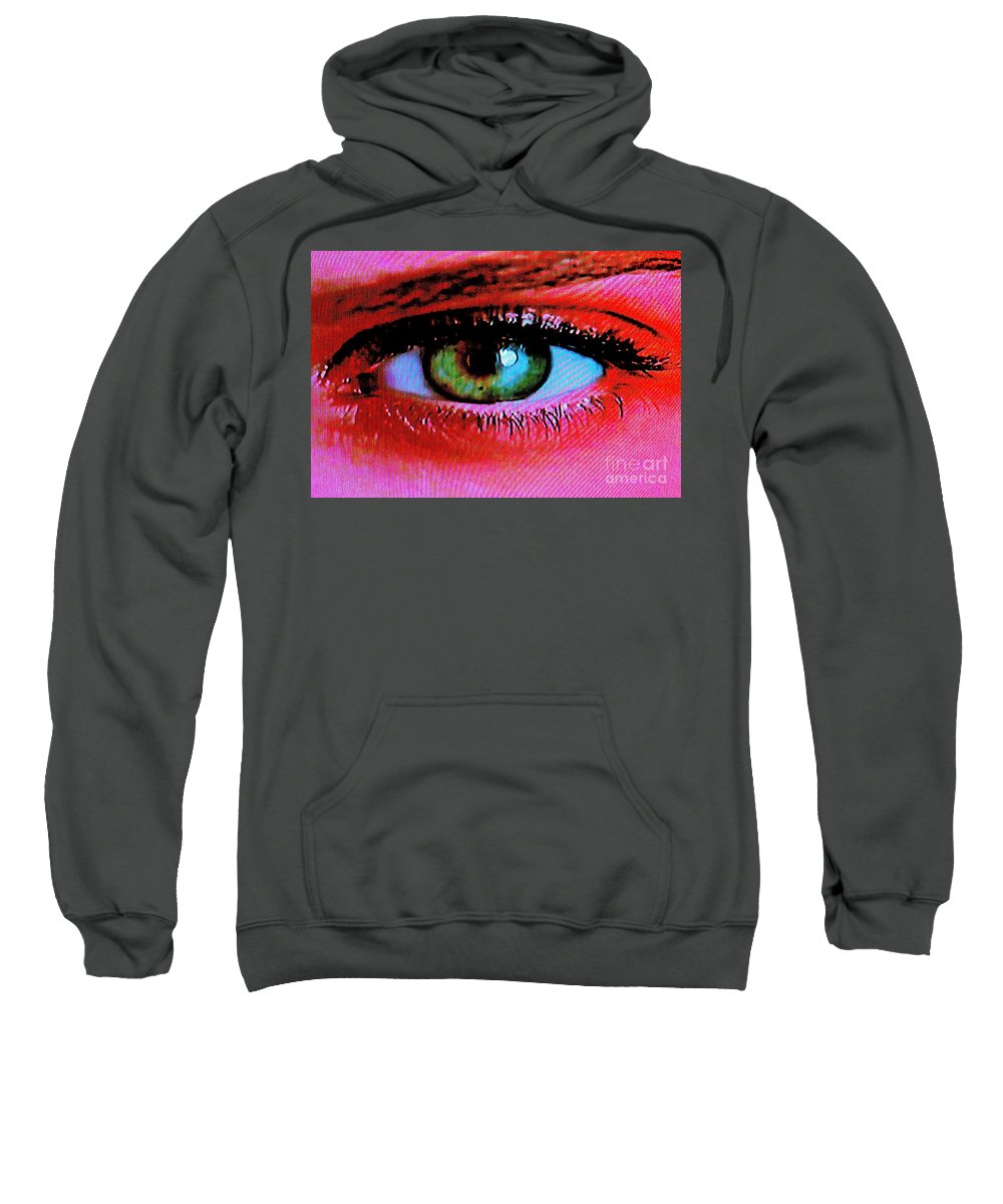 Eye Sweatshirt featuring the photograph All Seeing by Xn Tyler